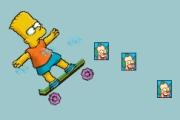 Spelletje Bart On Skate Spelen