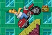 Spelletje Homer Motorbike Spelen