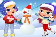 Spelletje Sneeuw Pret Spelen